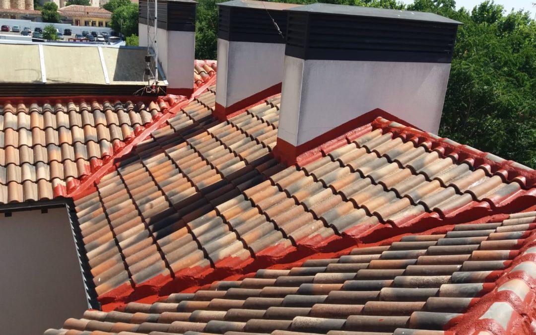 Reparación de tejados con caucho
