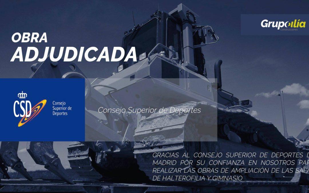 Obra adjudicada (Remodelación CSD Madrid)