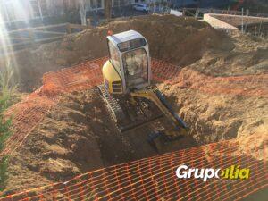 Excavación para tragaluces subterráneos